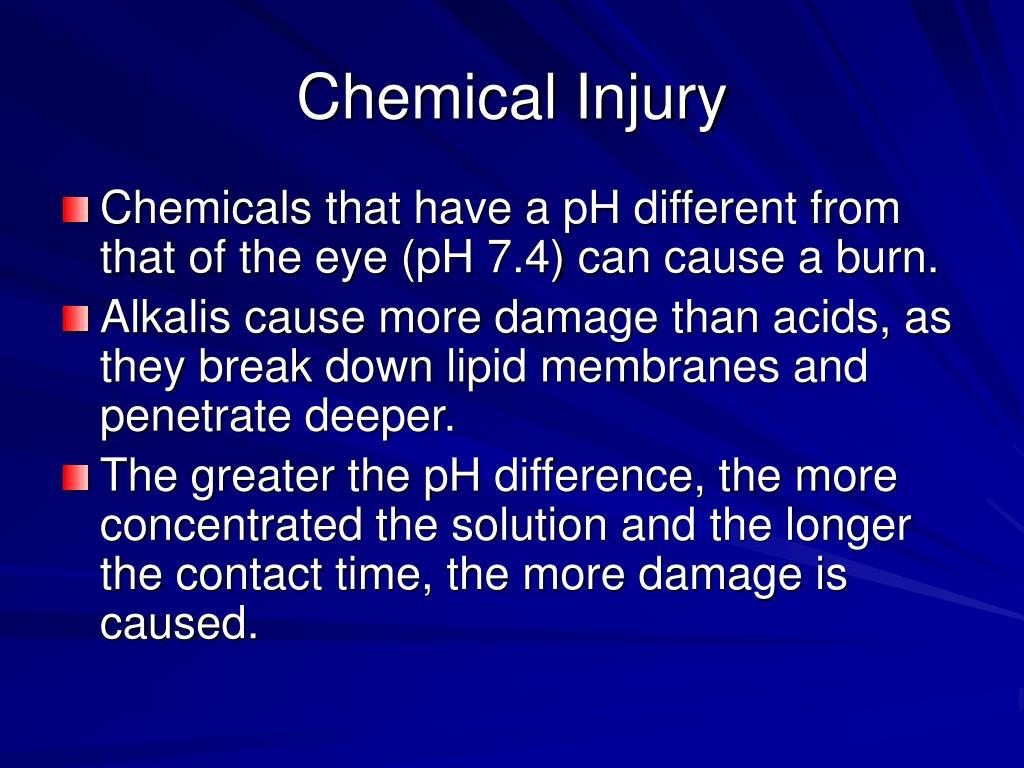Chemical Injury