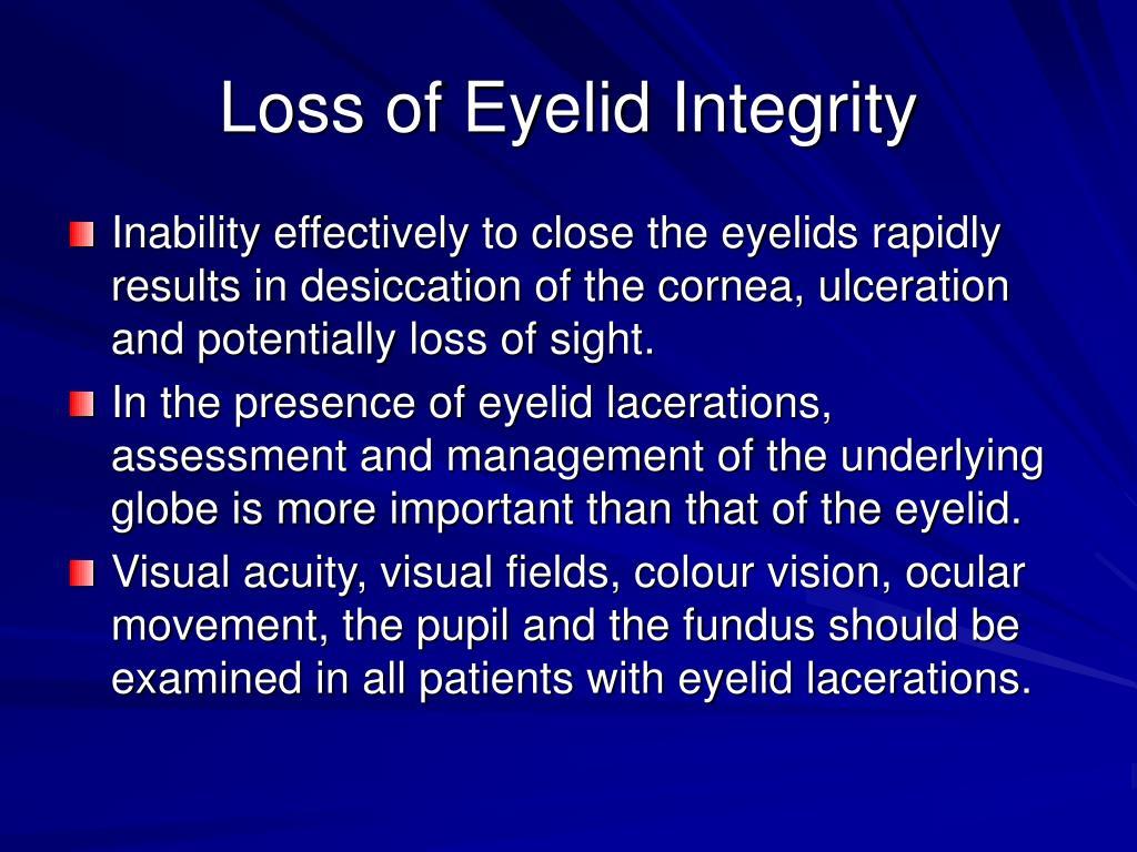 Loss of Eyelid Integrity