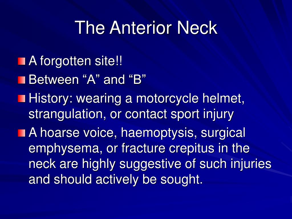 The Anterior Neck