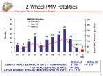 2 wheel pmv fatalities