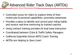 advanced rider track days artds