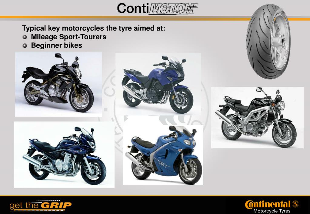 Typical key motorcycles the tyre aimed at: