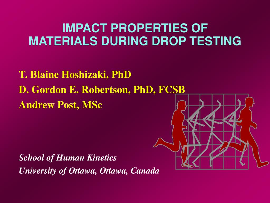 impact properties of materials during drop testing l.