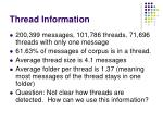 thread information