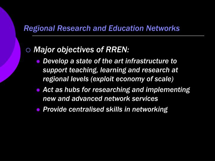 Regional Research and Education Networks