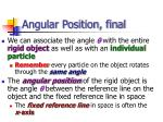 angular position final