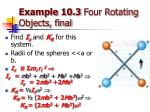 example 10 3 four rotating objects final