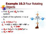 example 10 3 four rotating objects