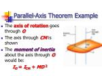 parallel axis theorem example