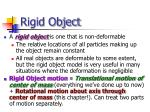 rigid object