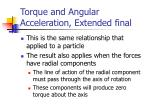 torque and angular acceleration extended final