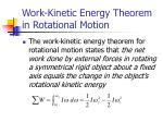 work kinetic energy theorem in rotational motion