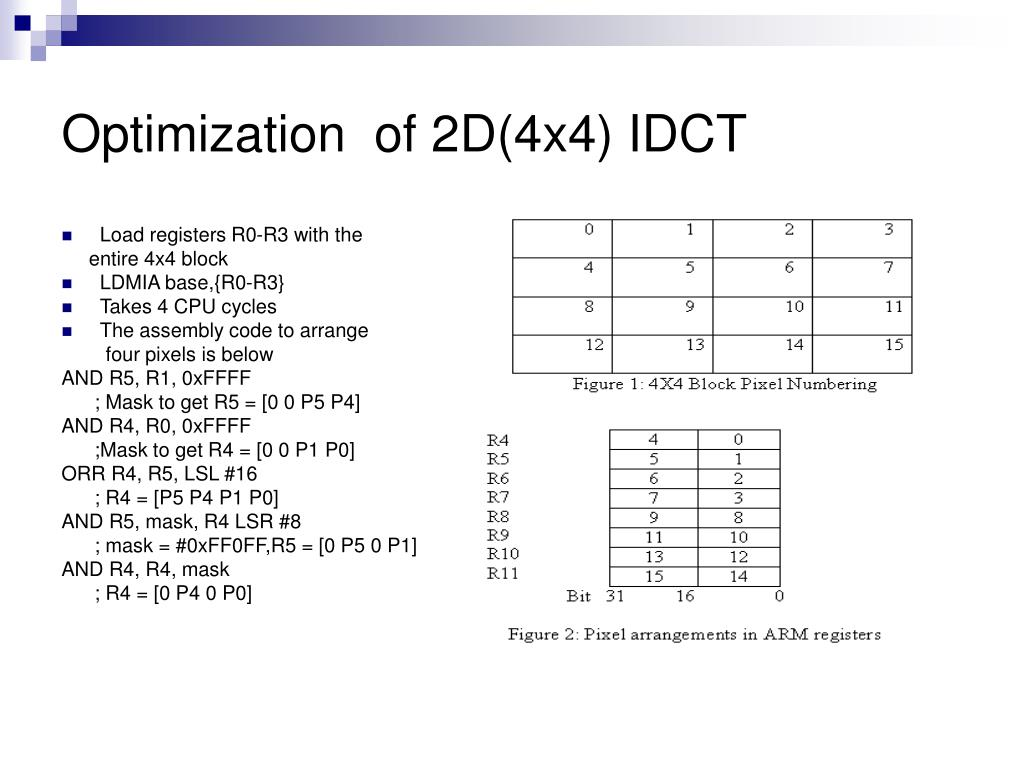 PPT - Optimization of H 264/AVC Baseline Decoder on ARM9TDMI