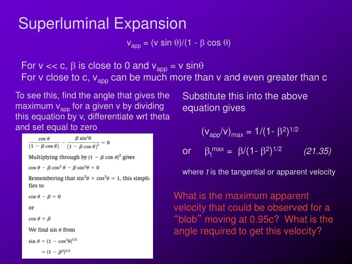 Superluminal Expansion