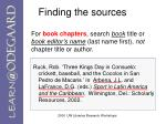 finding the sources10