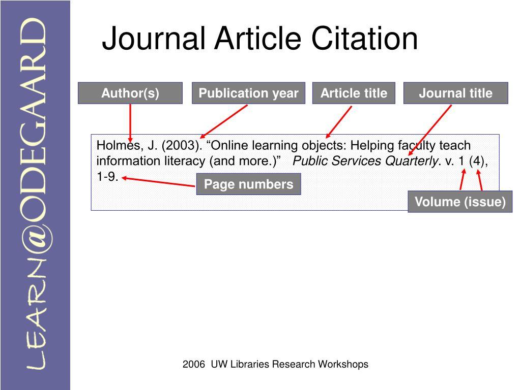 Journal Article Citation
