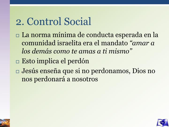 2. Control Social