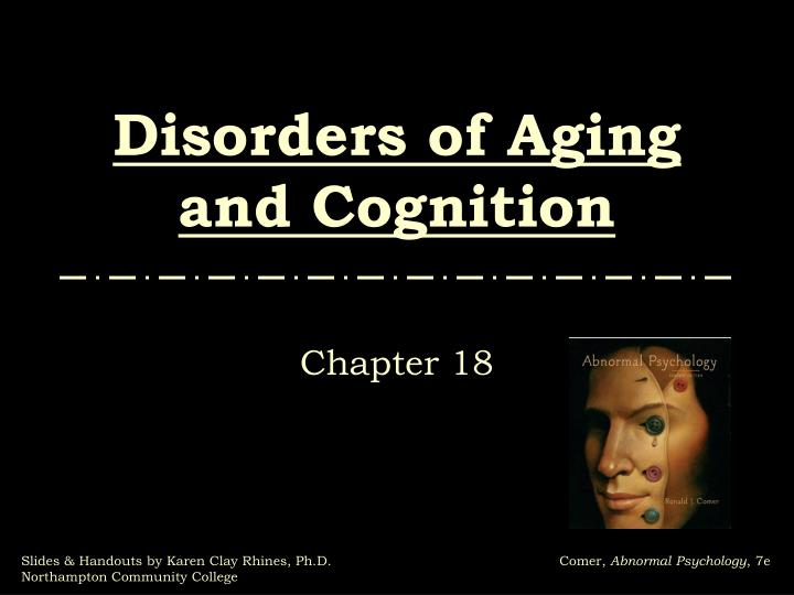 disorders of aging and cognition n.