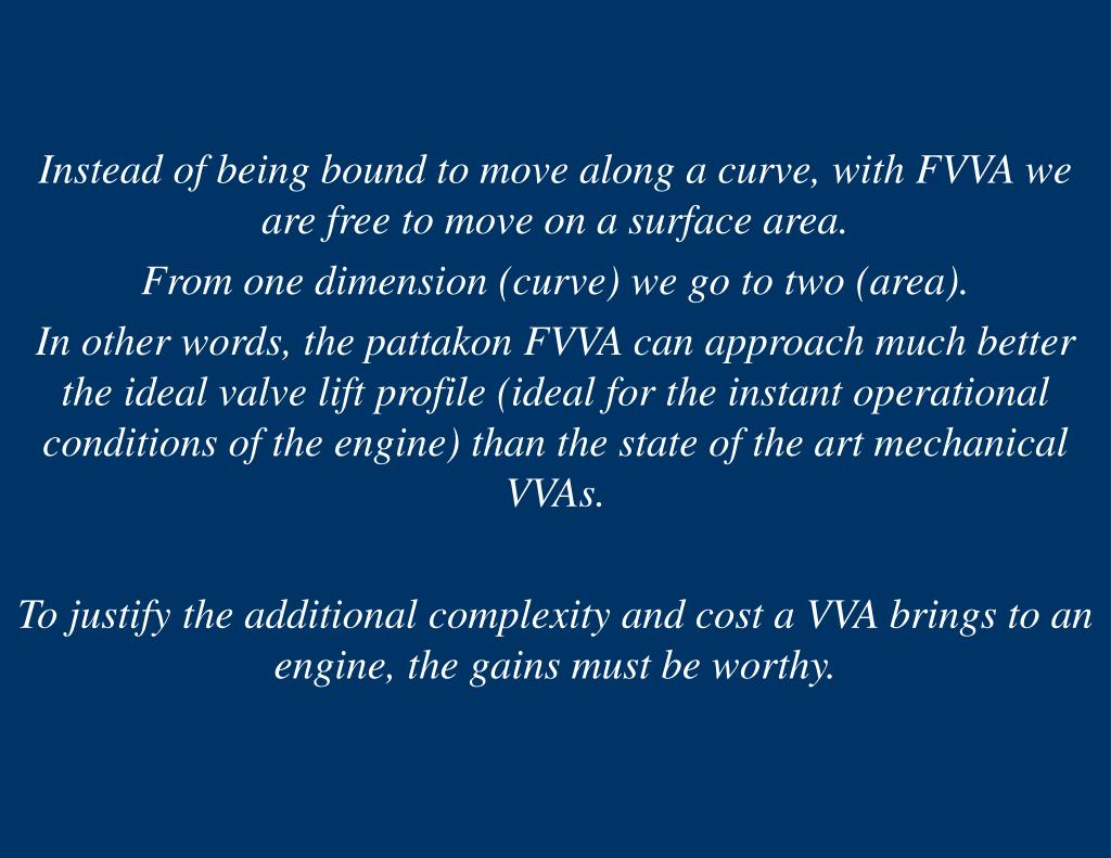 Instead of being bound to move along a curve, with FVVA we are free to move on a surface area.