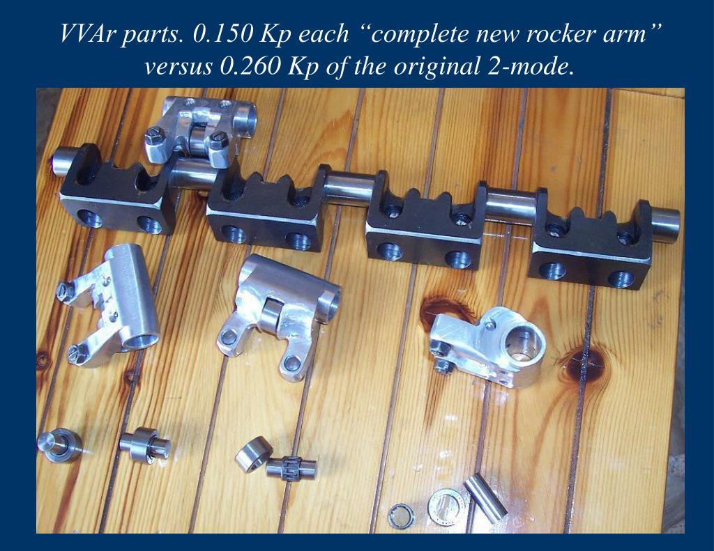 "VVAr parts. 0.150 Kp each ""complete new rocker arm"" versus 0.260 Kp of the original 2-mode."