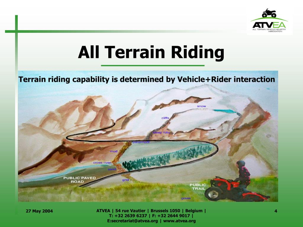 Terrain riding capability is determined by Vehicle+Rider interaction