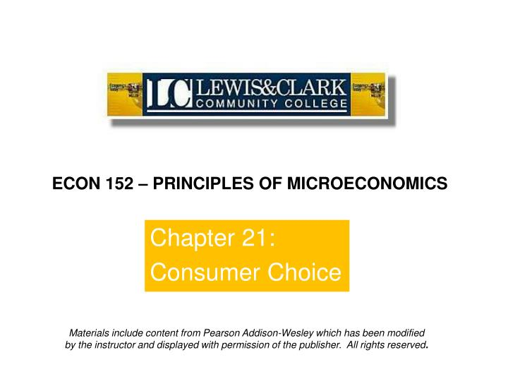 chapter 21 consumer choice n.