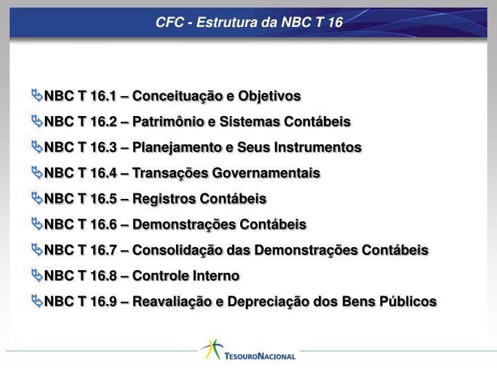 CFC - Estrutura da NBC T 16