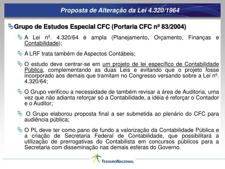 Proposta de Alteração da Lei 4.320/1964