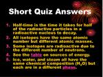 short quiz answers