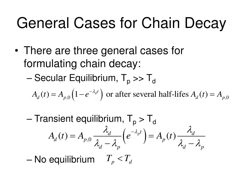 General Cases for Chain Decay