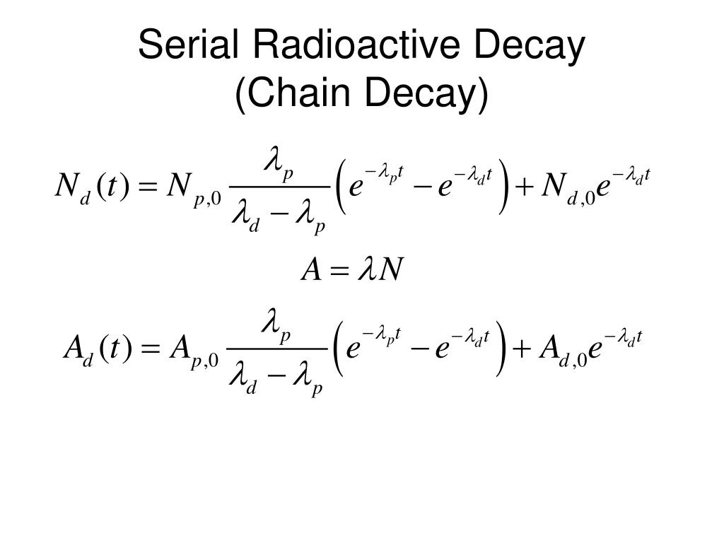 Serial Radioactive Decay