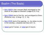 baalim the baals