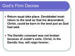 god s firm decree
