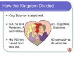 how the kingdom divided