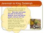 jeremiah to king zedekiah