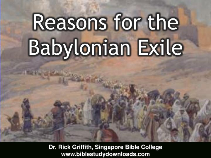 reasons for the babylonian exile n.