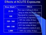 effects of acute exposures