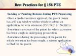best practices for 156 pte12