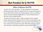 best practices for 156 pte13