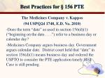 best practices for 156 pte17