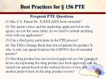 best practices for 156 pte18