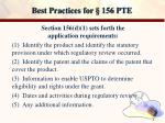 best practices for 156 pte4
