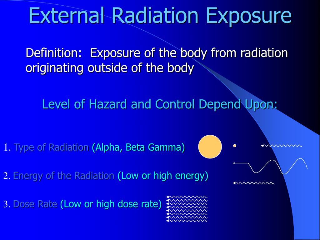 External Radiation Exposure