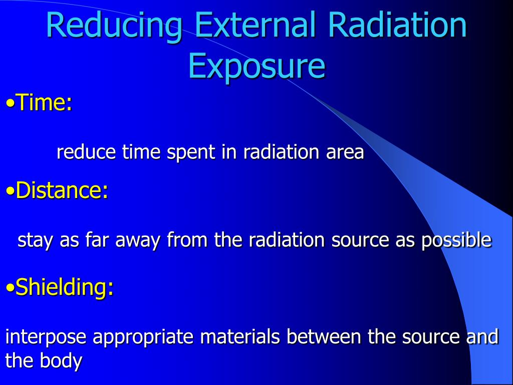 Reducing External Radiation Exposure