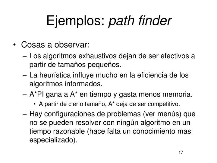 Ejemplos: