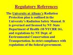 regulatory references