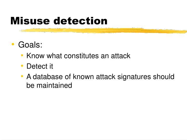 Misuse detection