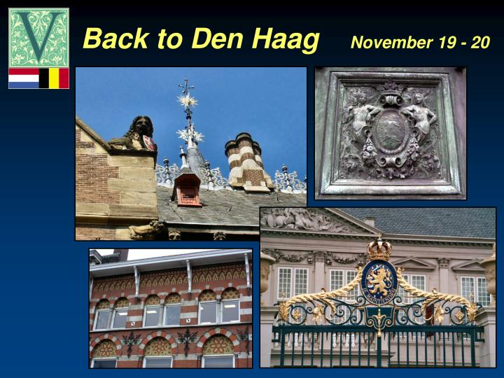 Back to Den Haag
