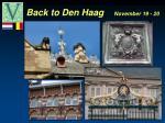 back to den haag november 19 20