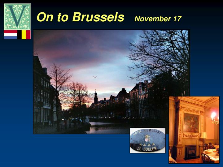 On to Brussels